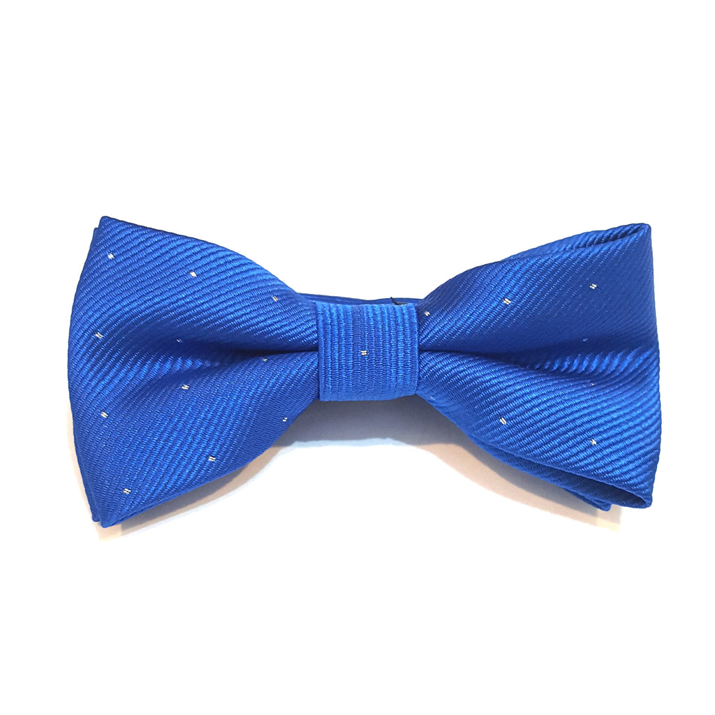 Kids Blue & Silver Polka Dot Bow Tie