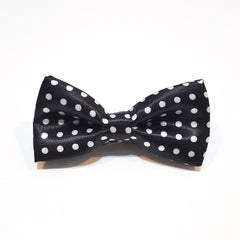 Kids Black & White Polka Dot Bow Tie