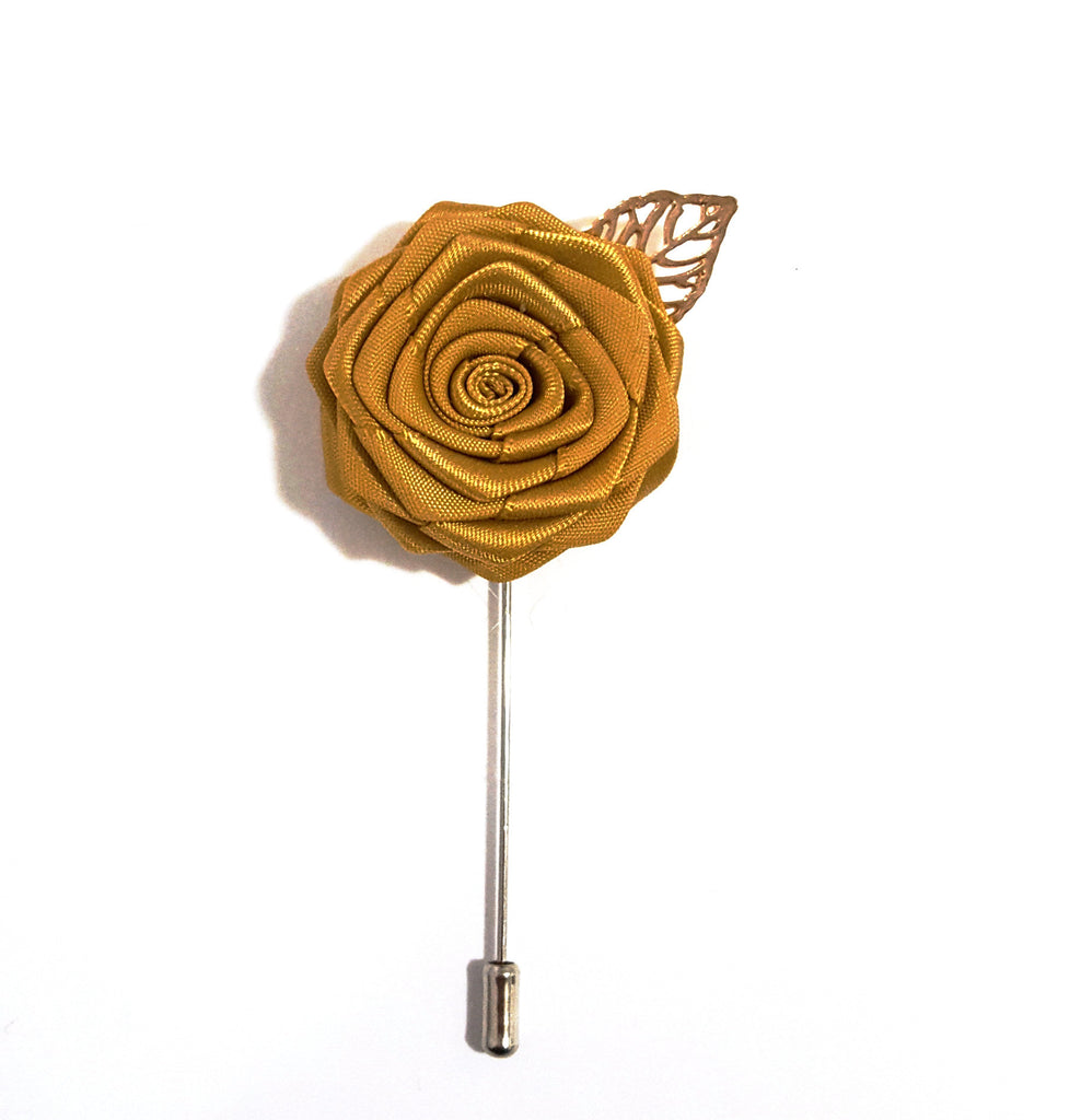Gold Rose Lapel Pin