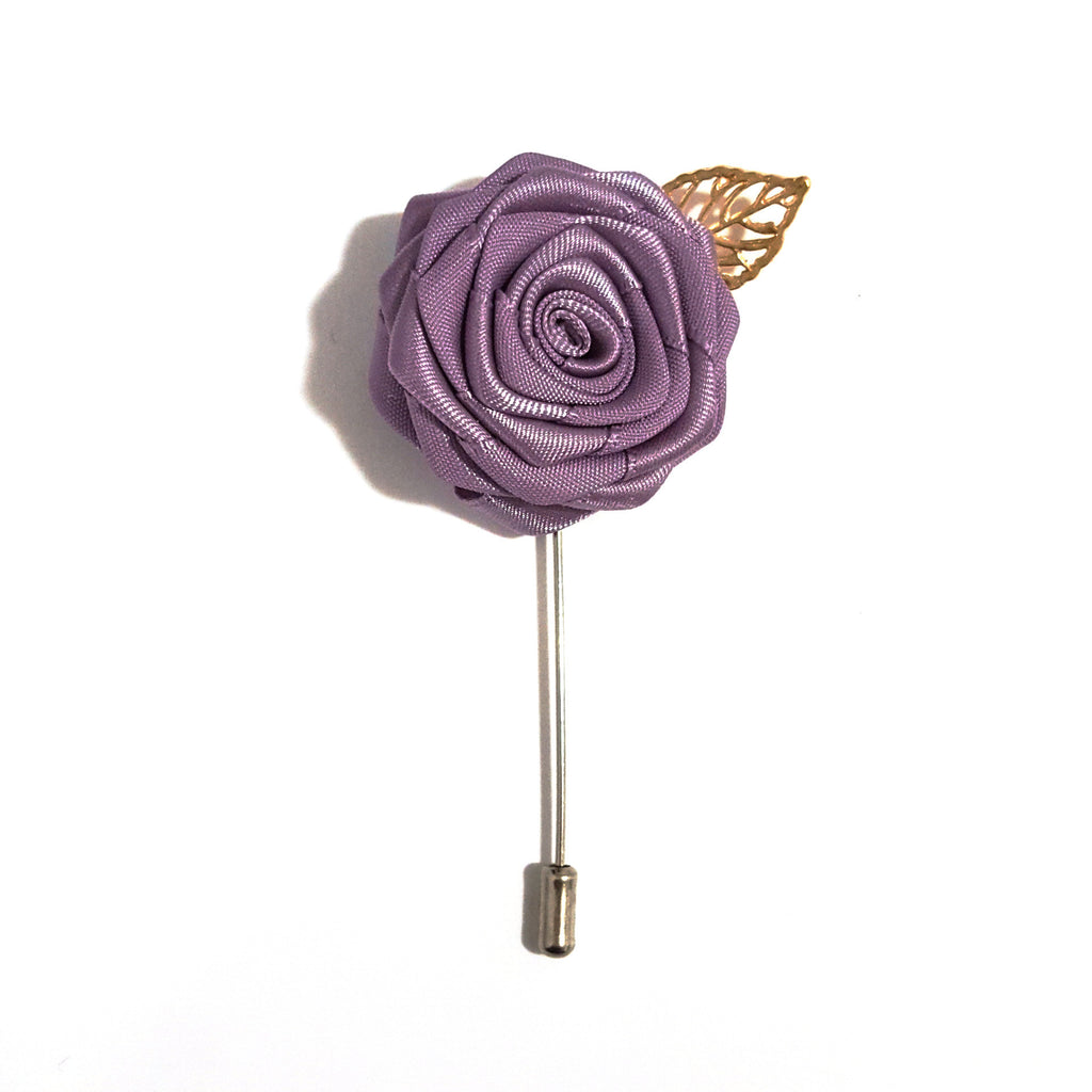 Mauve Rose Lapel Pin