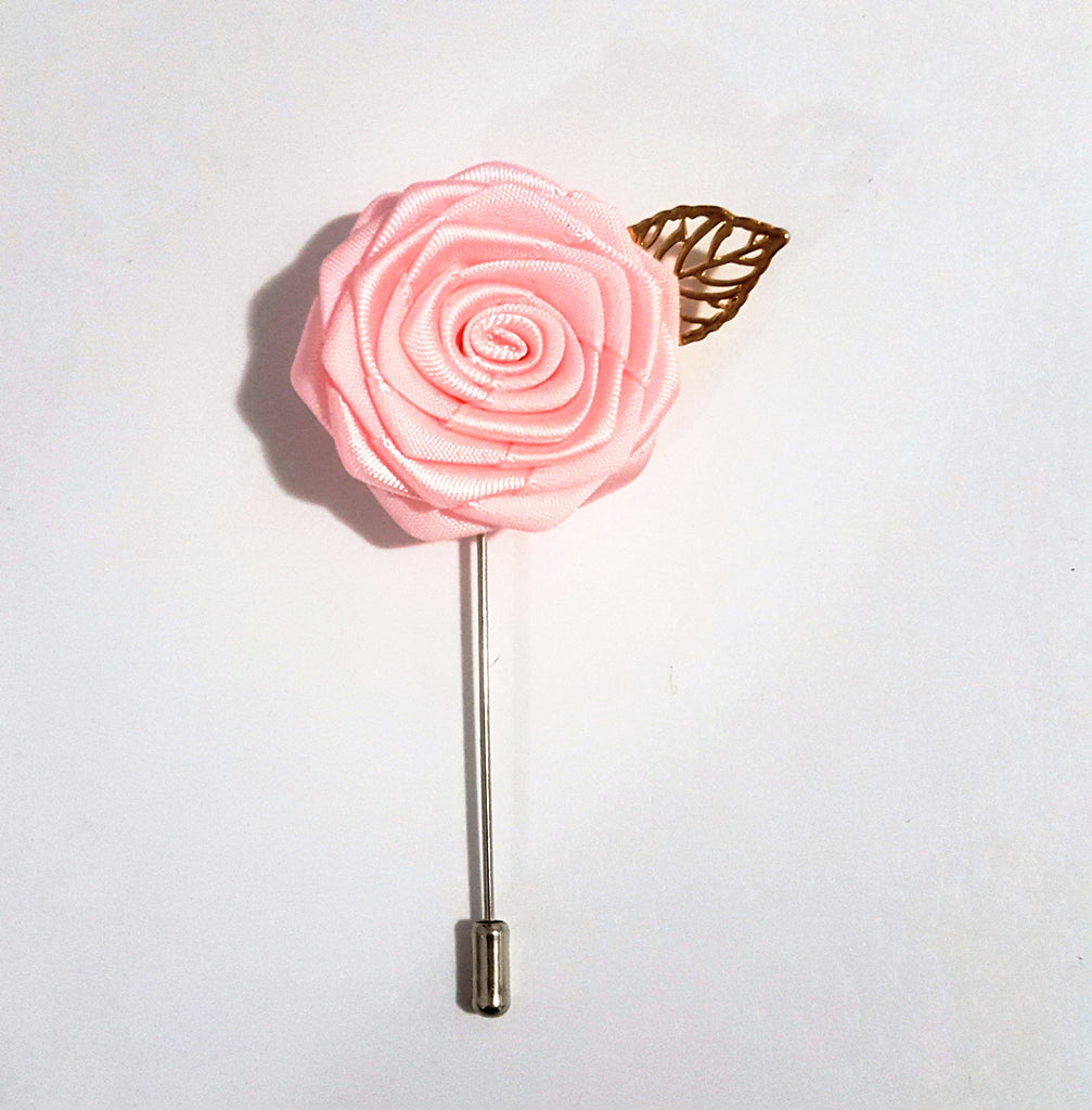 Baby Pink Rose Lapel Pin