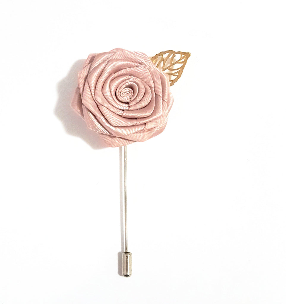 Nude Rose Lapel Pin