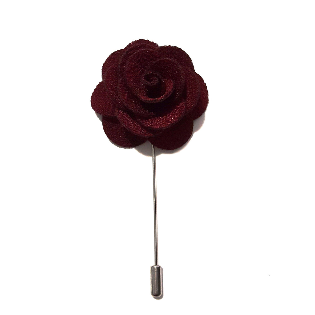 Burgundy Small 'Flower' Lapel Pin