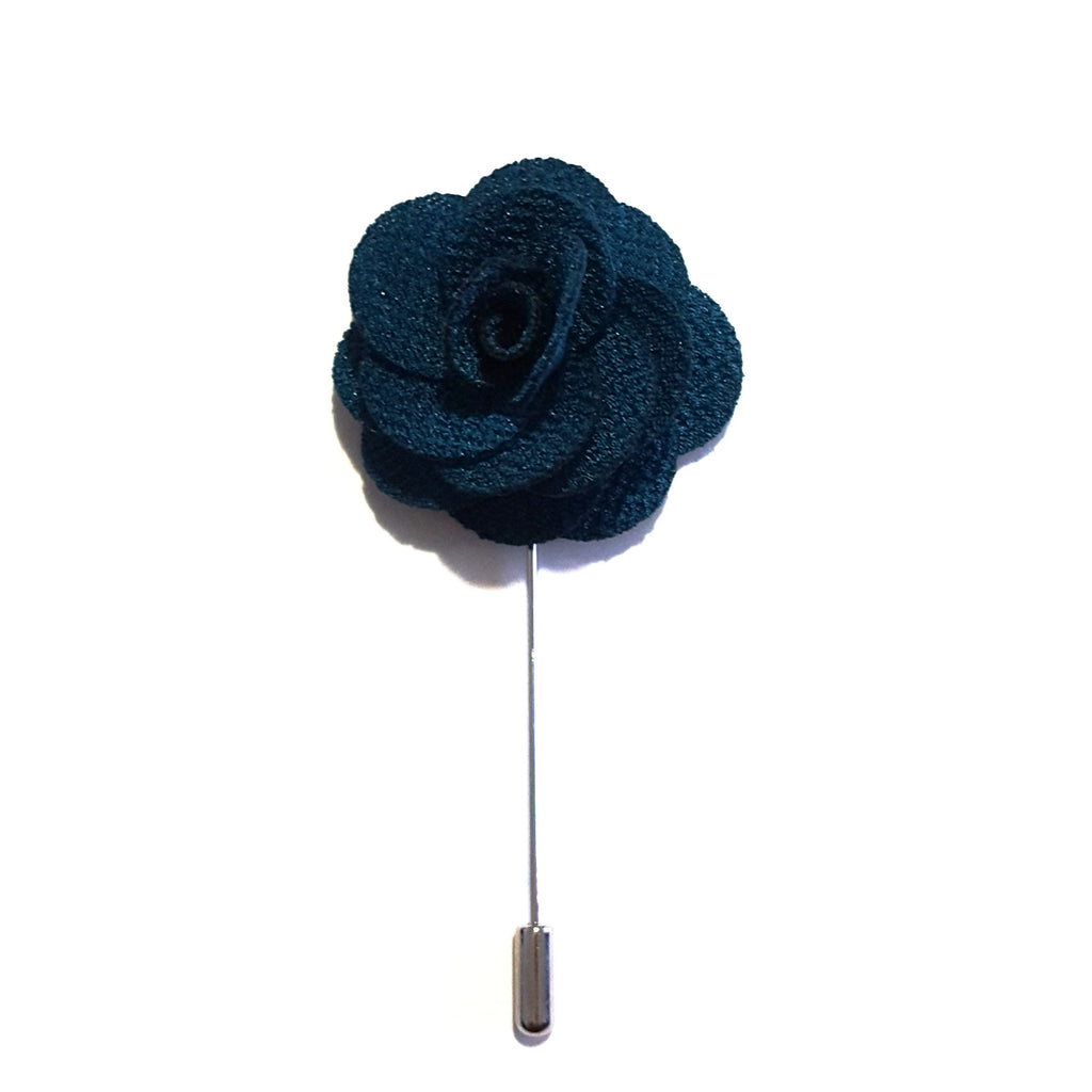 Teal Small 'Flower' Lapel Pin