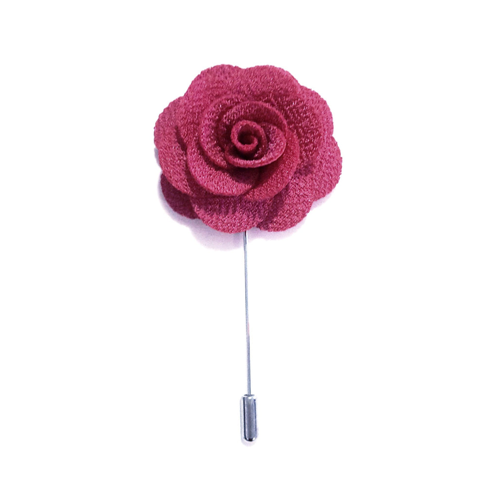 Hot Pink Small 'Flower' Lapel Pin