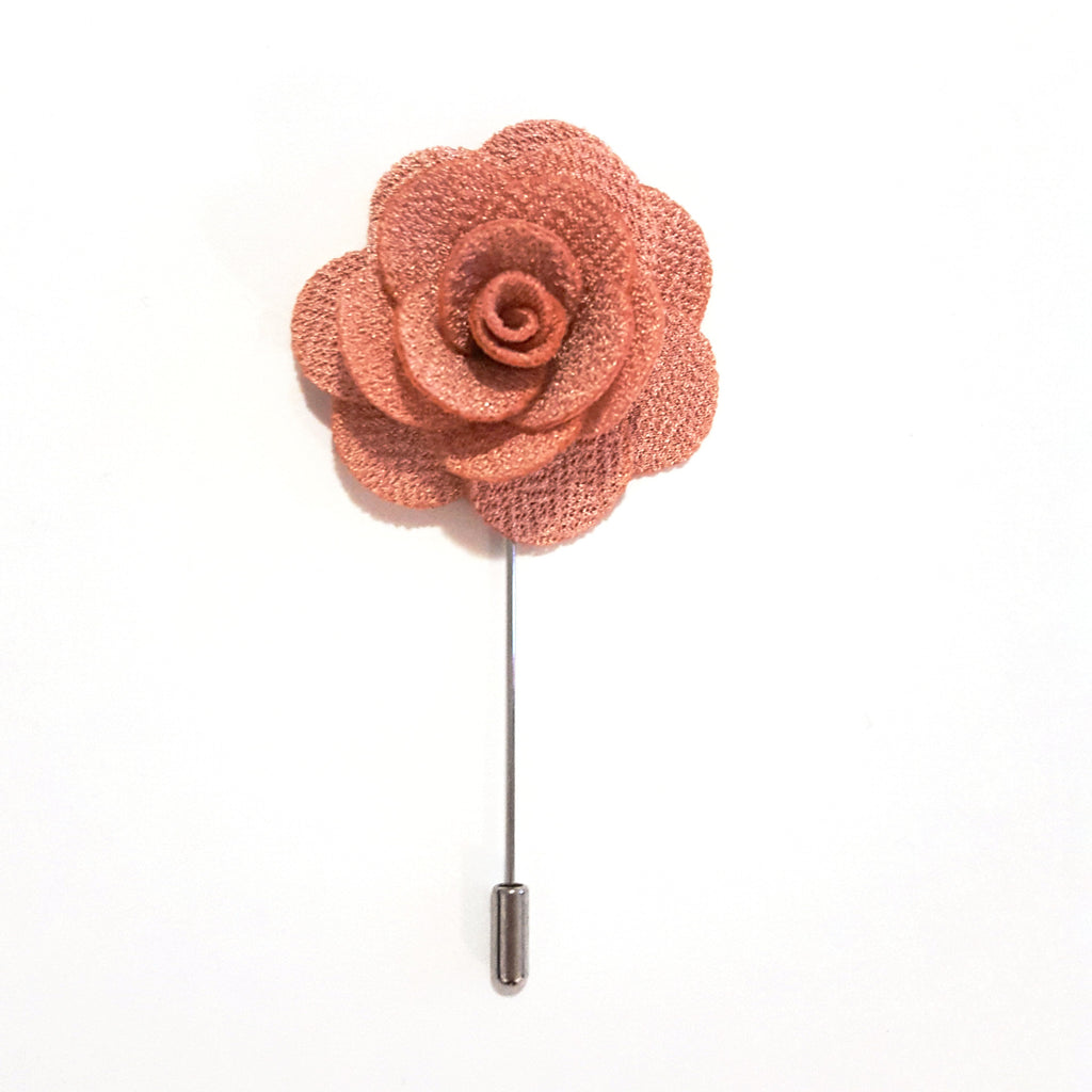 Pink Taupe Small 'Flower' Lapel Pin