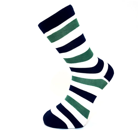 Blue & Green Striped Socks