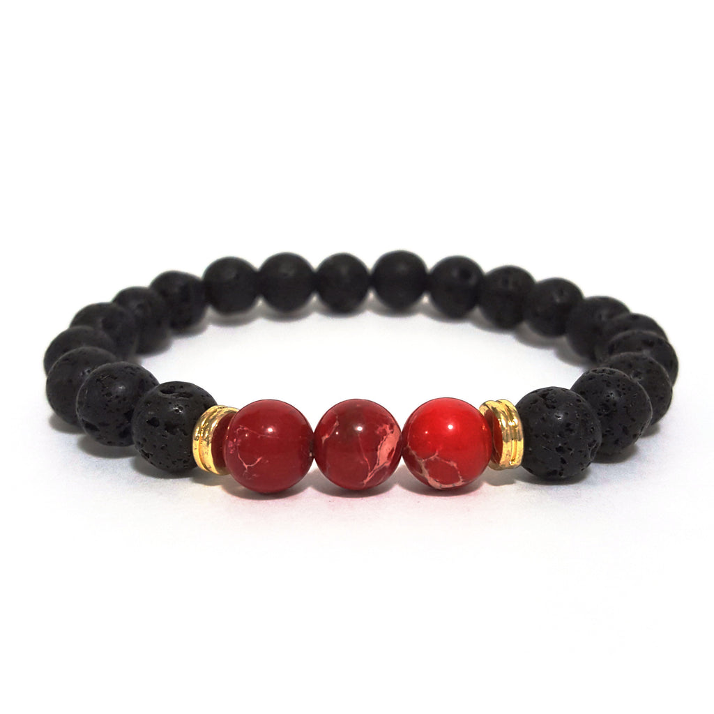 Red 'Lava Rock' Bracelet