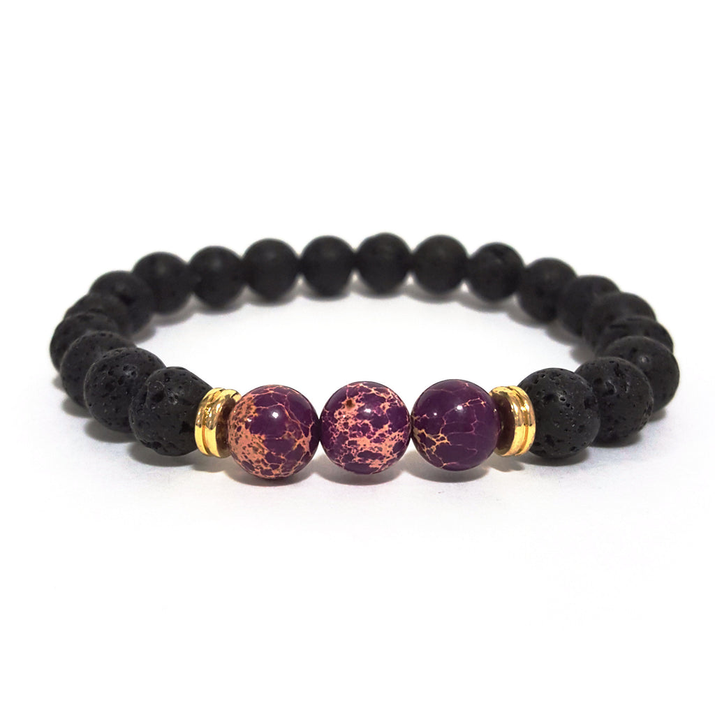 Purple 'Lava Rock' Bracelet