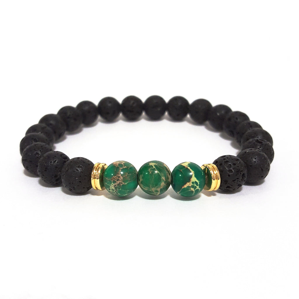 Green 'Lava Rock' Bracelet