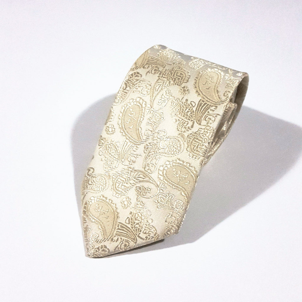 Champagne Gold Paisley Tie