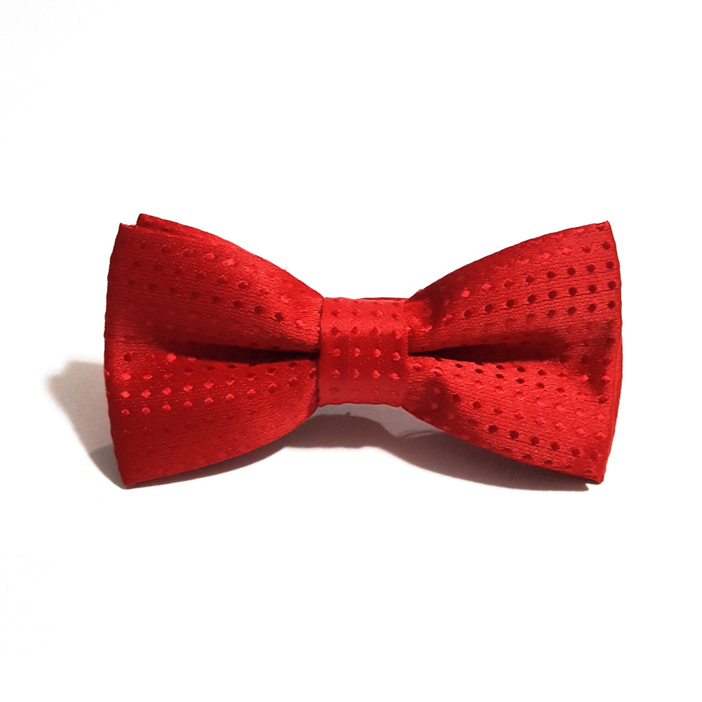 Kids Red Polka Dot Bow Tie