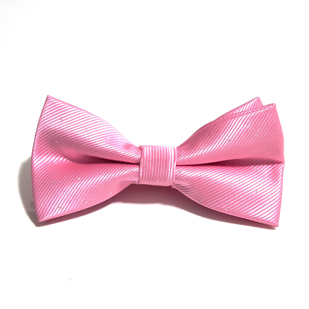 Light Pink & Silver Polka Dot Bow Tie