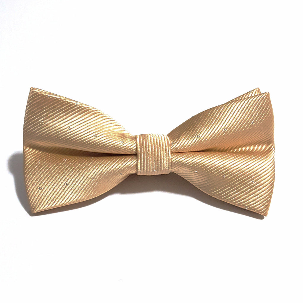 Gold & Silver Polka Dot Bow Tie