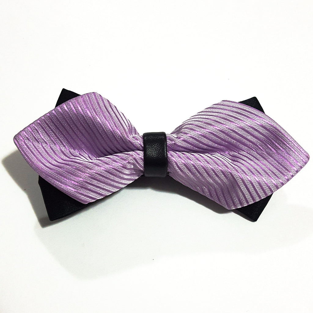 Kids Light Purple Butterfly Bow Tie