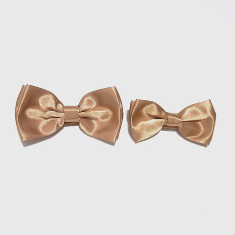 Gold Bow Tie + Kids Bow Tie