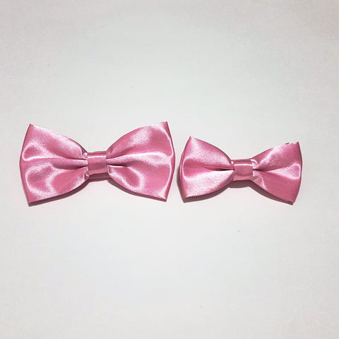 Light Pink Bow Tie + Kids Bow Tie