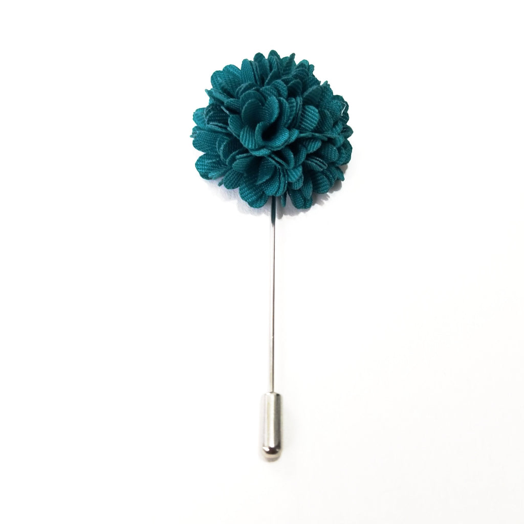 Turquoise 'Bloom' Lapel Pin