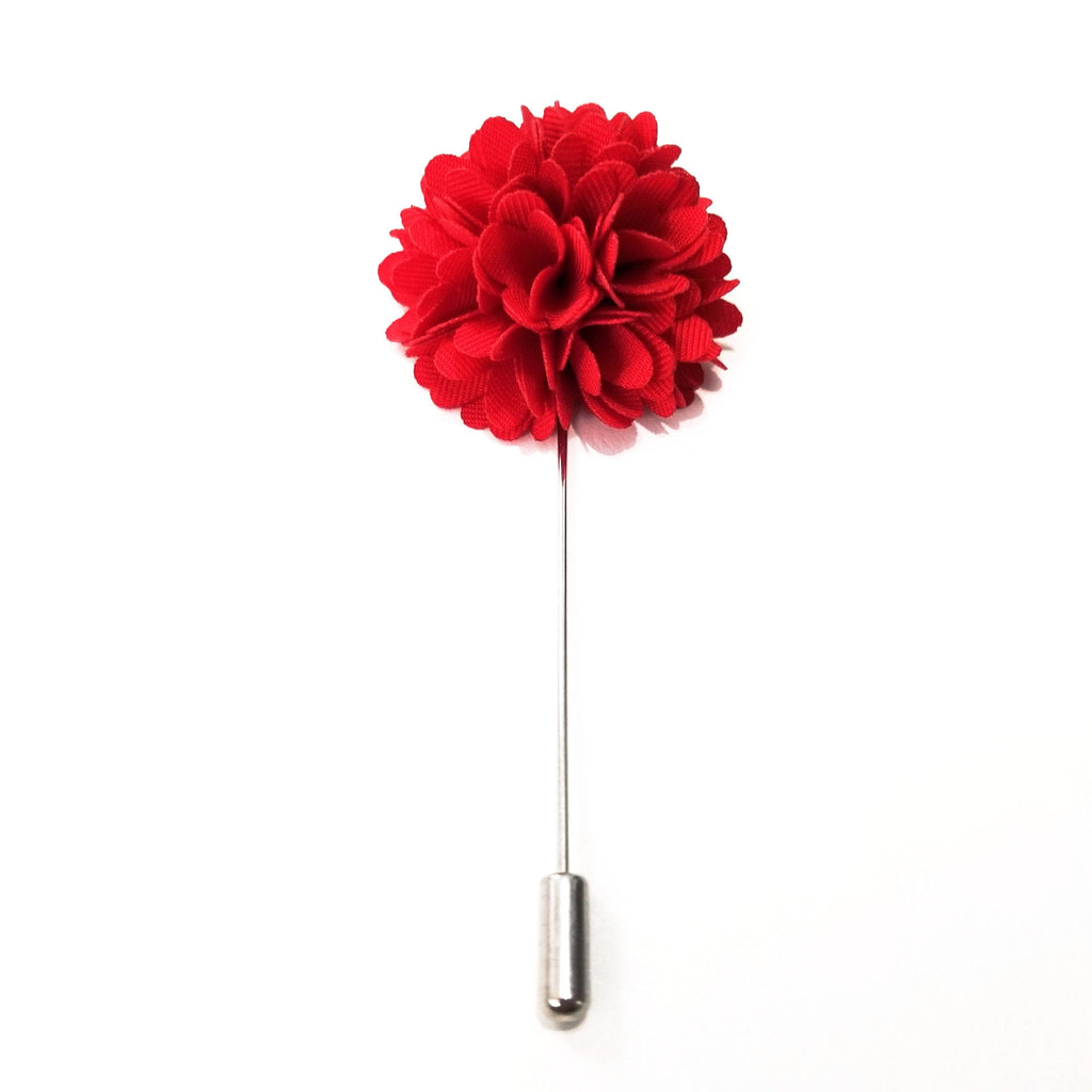 Red 'Bloom' Lapel Pin