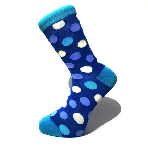 Blue & White Polka Dot Socks