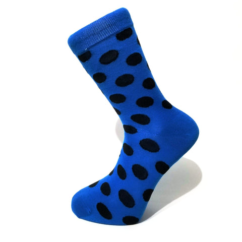 Blue & Black Polka Dot Socks