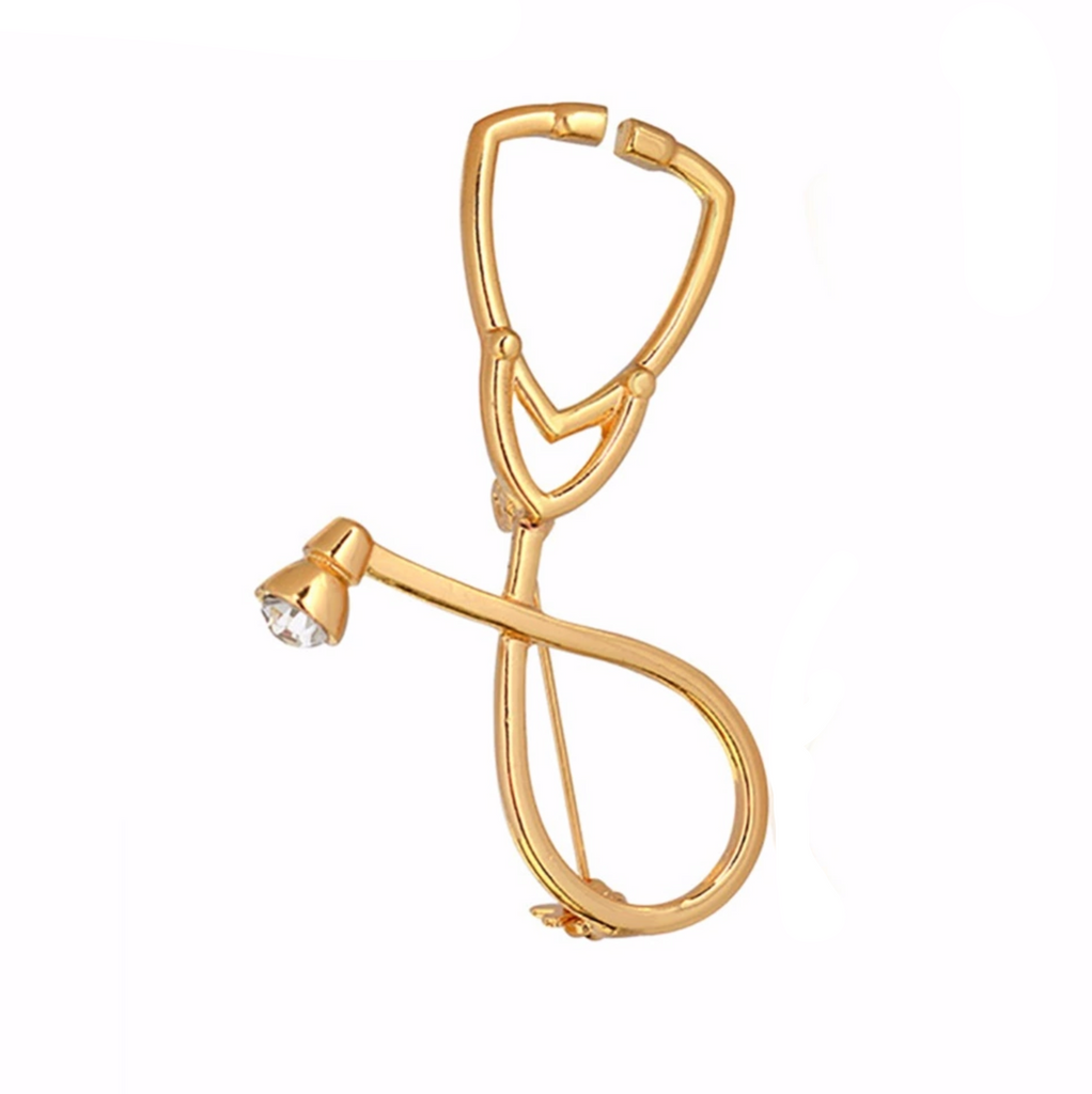 Gold Stethoscope Lapel Pin