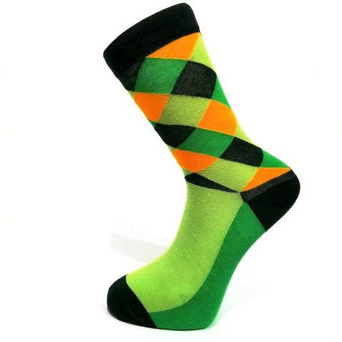 Green Pattern Socks