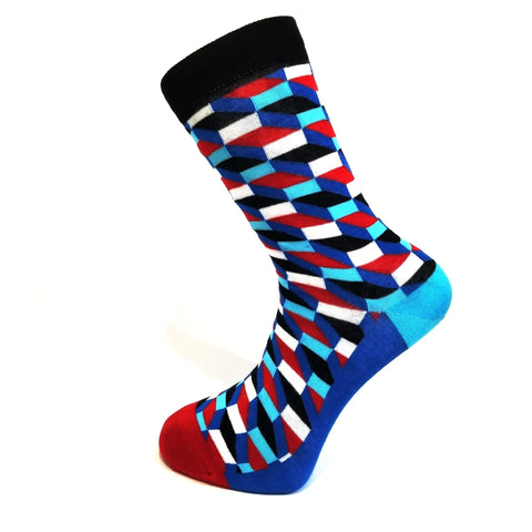 Blue & Red Funky Socks
