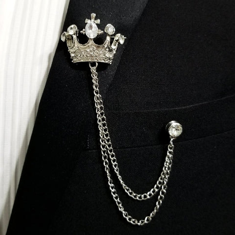'Crown' Lapel Pin Chain
