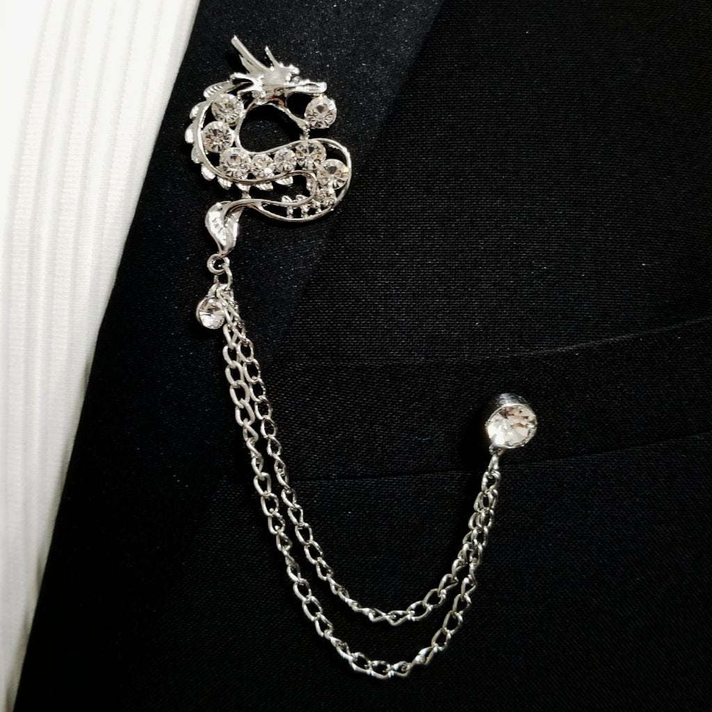 'Dragon' Lapel Pin Chain