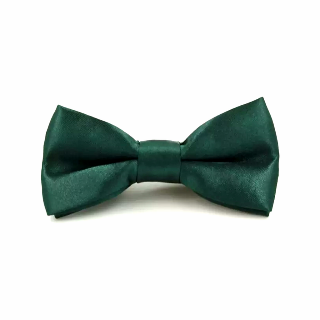 Kids Dark Green Bow Tie