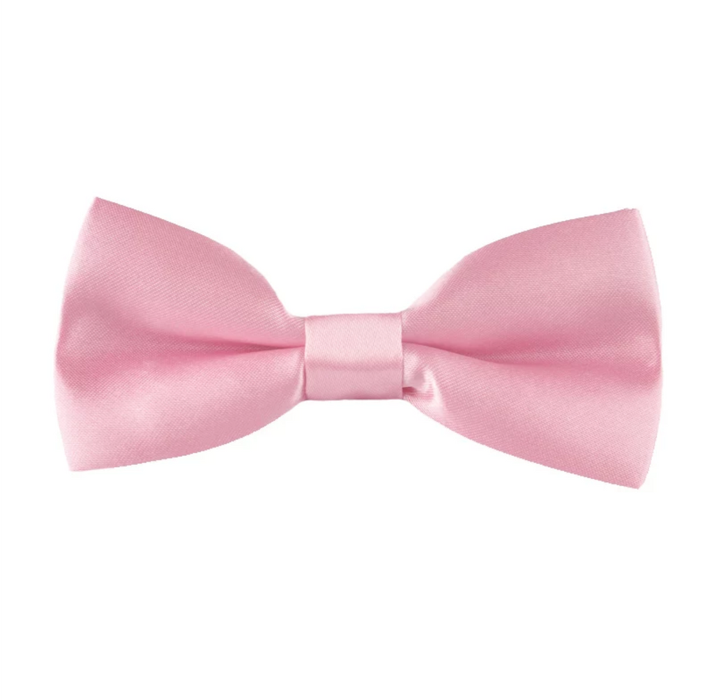Kids Light Pink Bow Tie