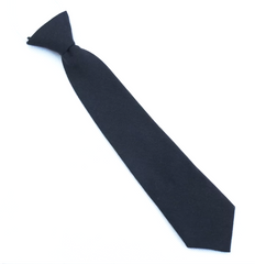 Kids Black Cotton Tie
