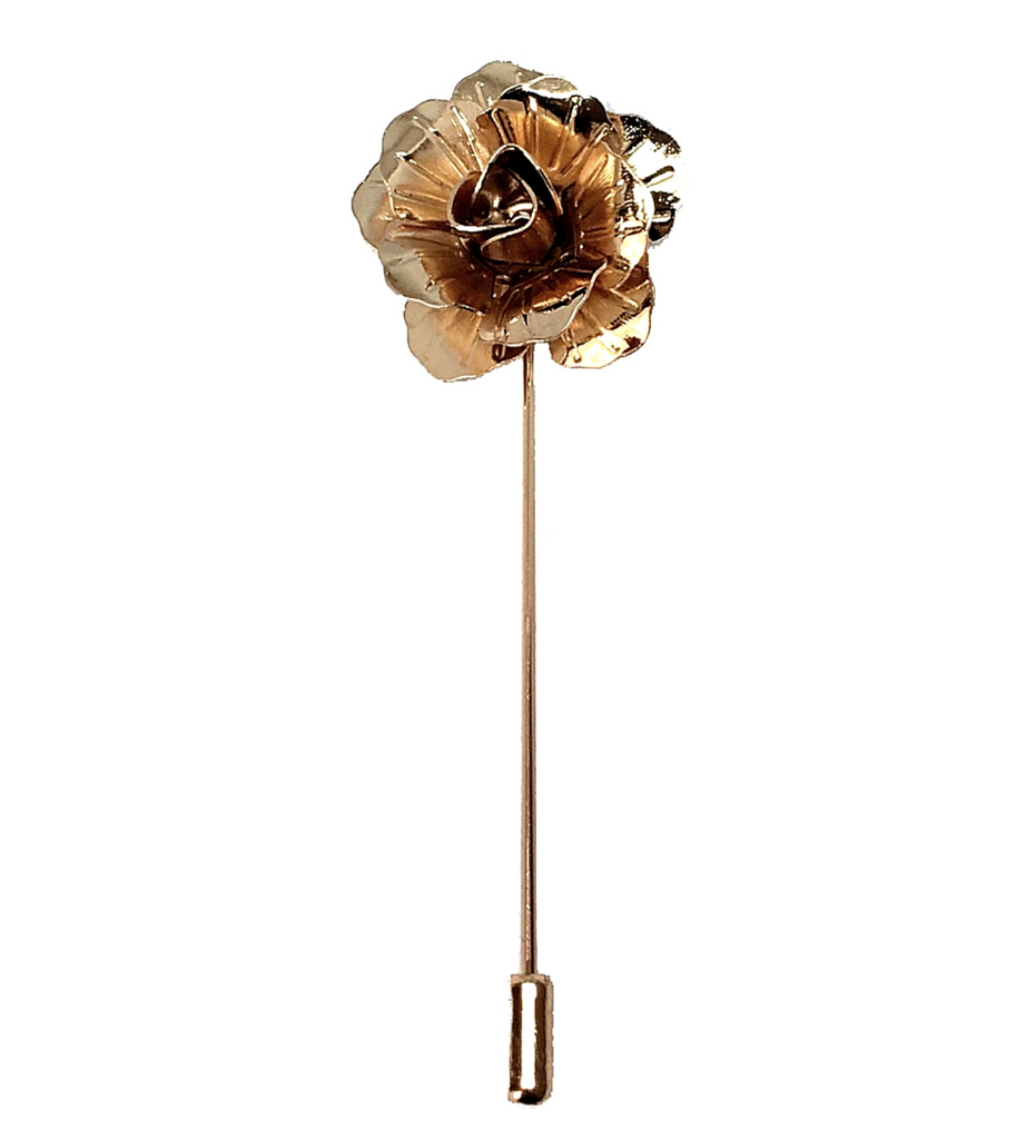 Golden Rose Lapel Pin