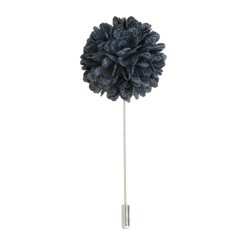 Denim 'Bloom' Lapel Pin