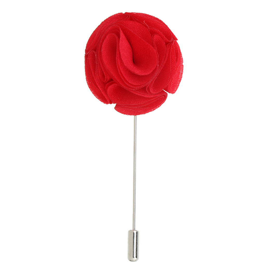 Red 'Swirl' Lapel Pin