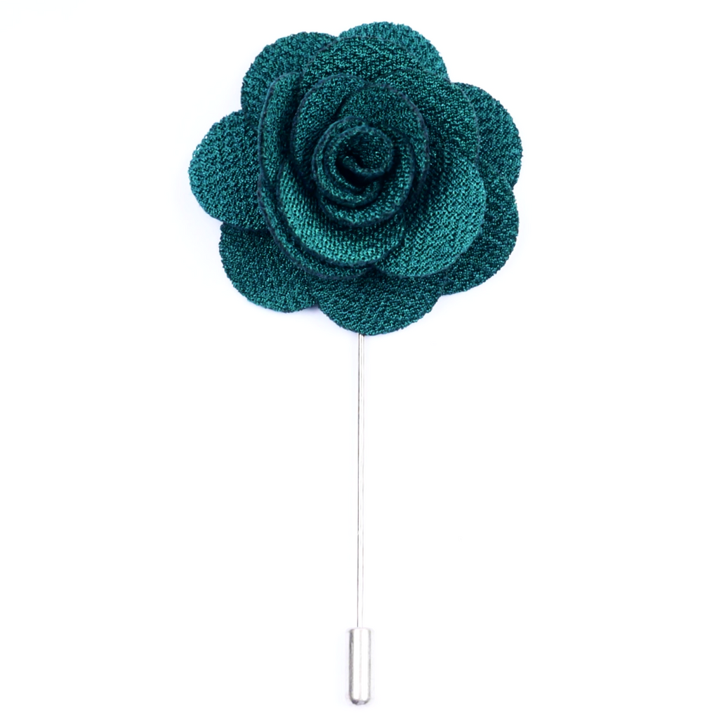 Forest Green Small 'Flower' Lapel Pin