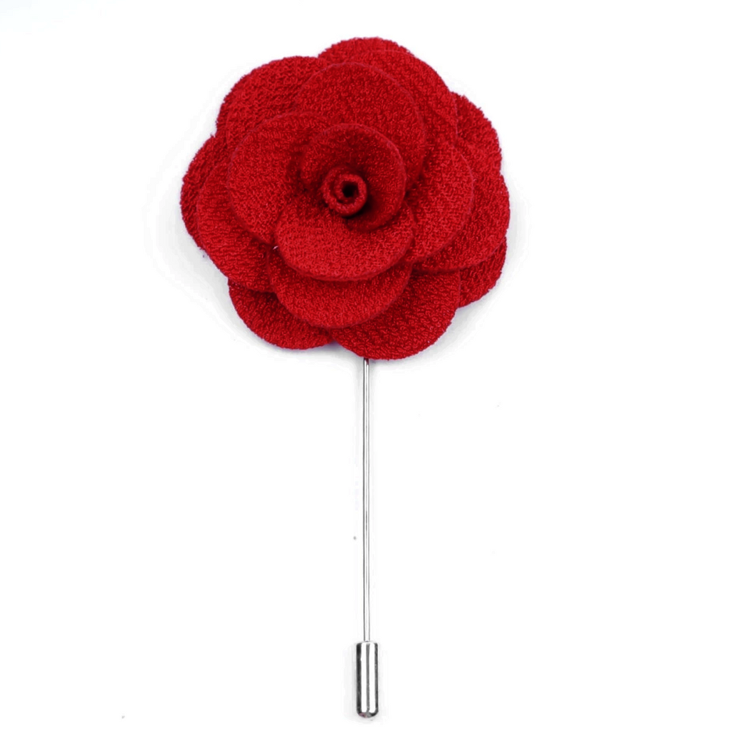 Red Small 'Flower' Lapel Pin