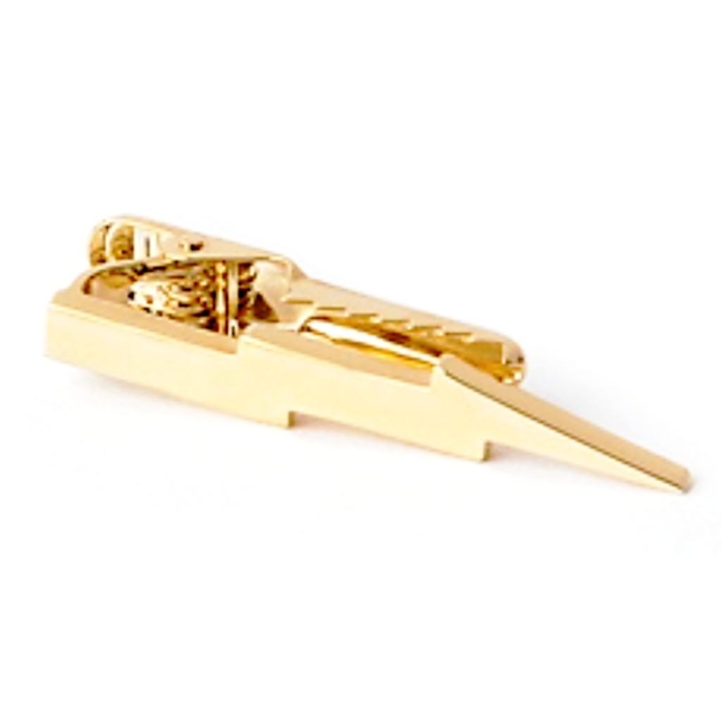 Gold Lightning Tie Bar
