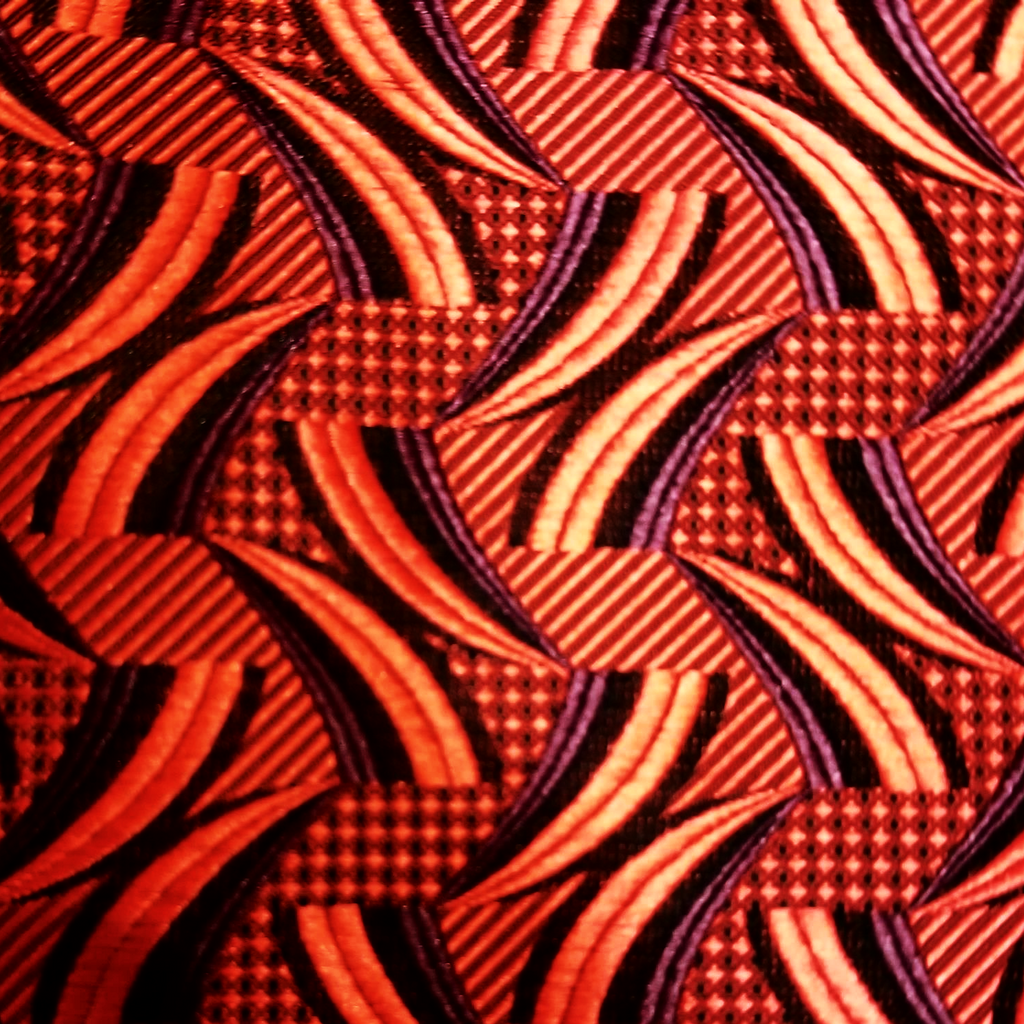Red Pattern Silk Pocket Square