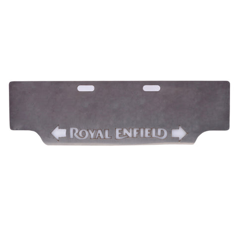 R.J.VON - Front Stainless Steel Number Plate With Inbuilt Indicator