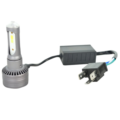 R.J.VON M3 LED Headlight Super Bright with High Power Cooling ( 30 W ,White and Yellow Light)