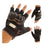 R.J.VON Biker Motorcycle Riding &Touring Hand Gloves Half Finger (Black)
