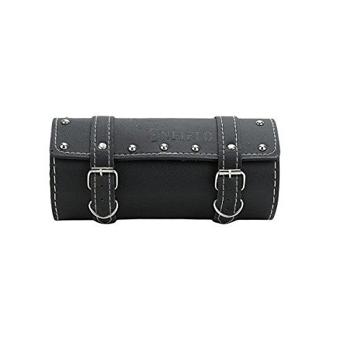 R.J.VON - Rear Customized Round Side Saddle Bag Black