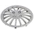 R.J.VON Premium Stylish Silver Colour Wheel Cover For All Cars (Set Of 5)