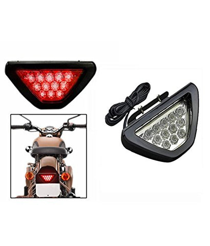 R.J.VON Triangle Red 12 Led Brake Light with Flash Mode