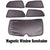 Premium Finish Car Window Sunshades for Mahindra Xuv 500  - Set of 5 Pcs,( black)