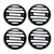 R.J.VON RJEXBIG03 Indicator light Grill Black (Pack of 4 Pcs.)