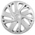 R.J.VON Premium Stylish Silver Colour Wheel Cover For All Cars (Set Of 5).