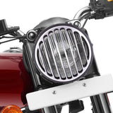 R.J.VON RJSNATF02  Rear Customized Heavy quality Head Light Grill,Indicator Tiger Face, Back, Eyes Grill